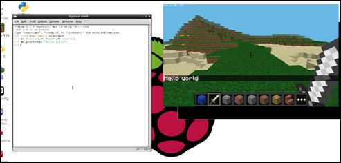 Minecraft Pi with IDLE