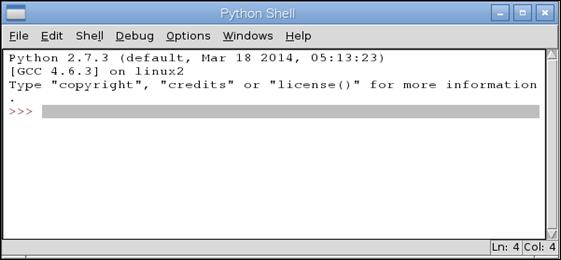 Python 2 in applications menu